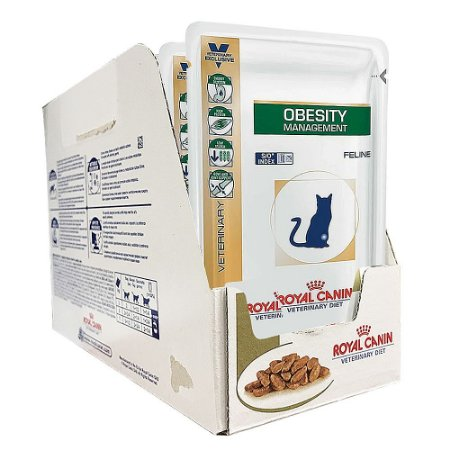 Alimento Úmido Para Gatos Sachê Terapêutico Obesity Combo 12un 100g Cada - Royal Canin