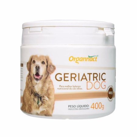 Suplemento Vitamínico Geriatric Dog 400g - Organnact