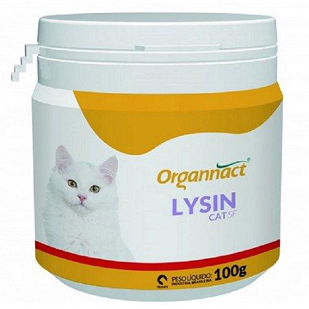 Suplemento Vitamínico Lysin Cat SF 100g - Organnact
