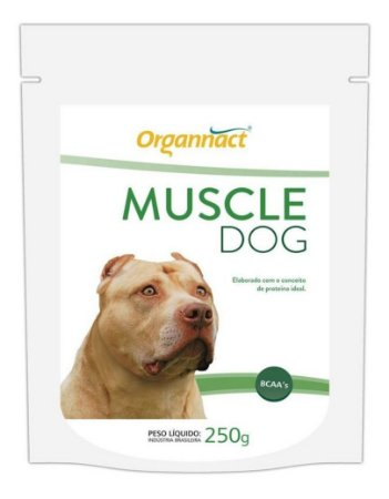 Suplemento Muscle Dog Massa Muscular 250g - Organnact