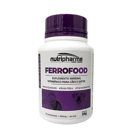 Suplemento Vitamínico Ferrofood 30 Comprimidos - Nutripharme