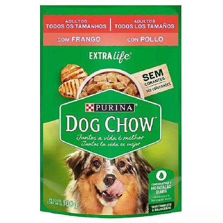 Ração Úmida Purina Dog Chow Sachê Cães Adultos Sabor Frango e Arroz 100g