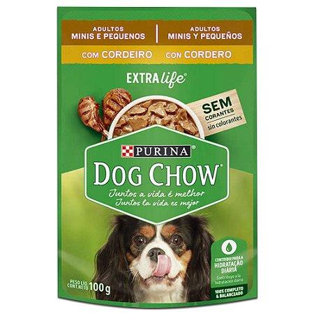 Ração Úmida Purina Dog Chow Sachê Cães Adultos Raças Pequenas Sabor Cordeiro 100g