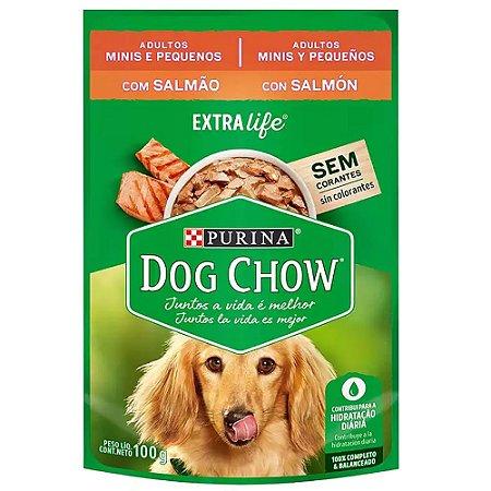 Ração Úmida Purina Dog Chow Sachê Cães Adultos Raças Pequenas Sabor Salmão 100g
