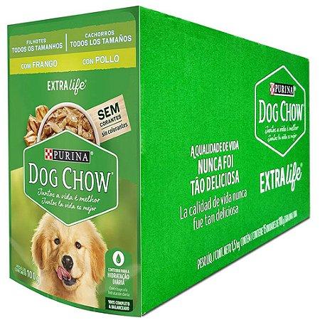 Ração Úmida Dog Chow Sachê Cães Filhotes Sabor Frango Caixa 15un 100g Cada - Purina