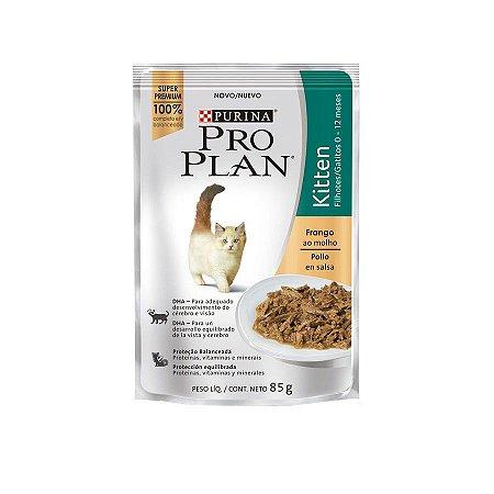 Alimento Úmido Para Gatos Kitten Sachê Frango Combo 15un 85g Cada - Pro Plan