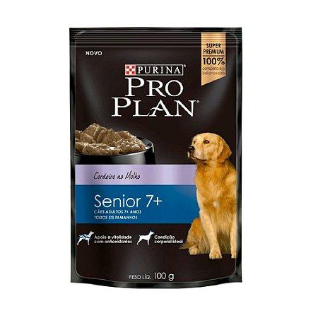 Alimento Úmido Para Cães Senior 7+ Sachê Cordeiro Combo 15un 100g Cada - Pro Plan