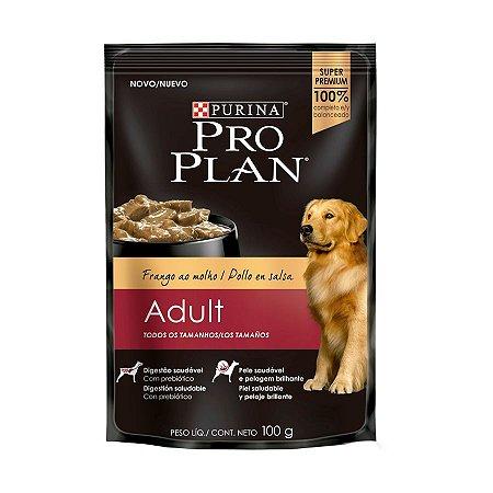 Alimento Úmido Para Cães Adultos Sachê Frango Combo 15un 100g Cada - Pro Plan