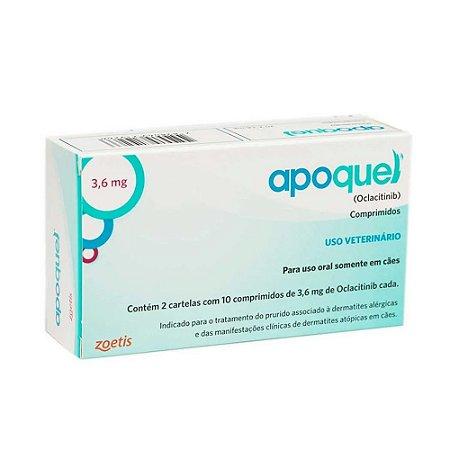 Tratamento da Coceira Apoquel 3,6mg 20 Comprimidos - Zoetis