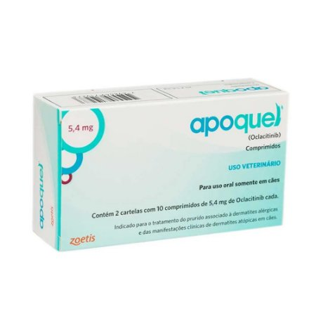 Tratamento da Coceira Apoquel 5,4mg 20 Comprimidos - Zoetis