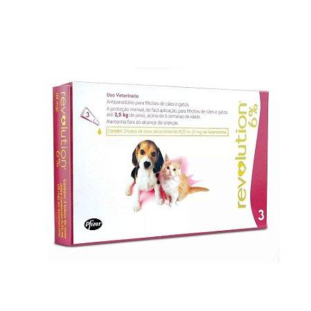 Revolution Cães e Gatos Até 2,5kg Combo 3 Pipetas - Zoetis