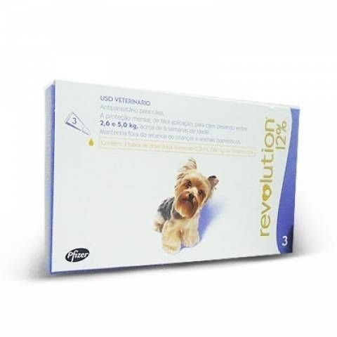 Revolution Cães 2,6 A 5kg Combo 3 Pipetas - Zoetis
