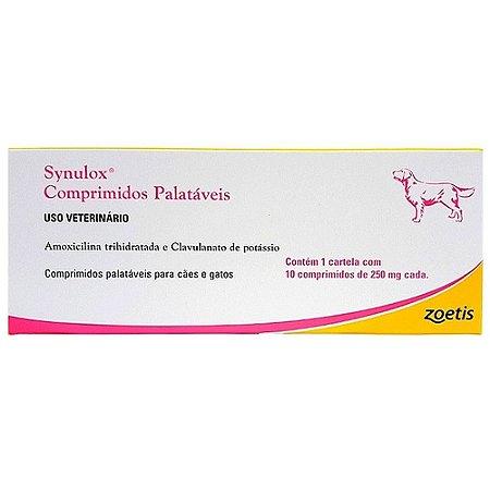 Antibiótico Synulox 250mg 10 comprimidos - Zoetis