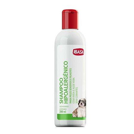 Shampoo Hipoalergênico 200ml Peles Sensíveis Filhotes - Ibasa