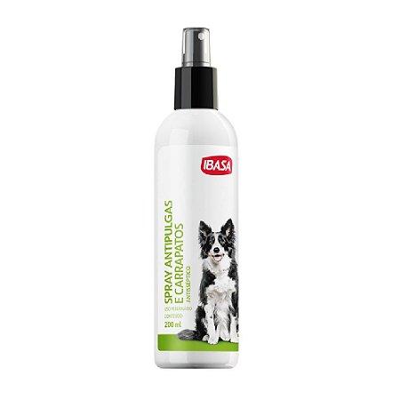 Spray Antipulgas e Carrapatos 200ml - Ibasa