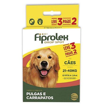 Antipulgas Fiprolex Cães 21kg a 40kg Pague 2 Leve 3 - Ceva