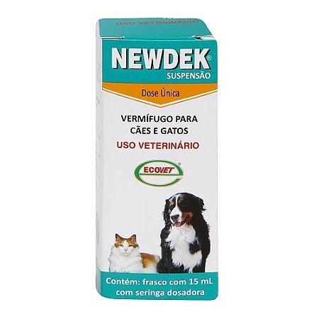 Vermífugo Newdek Suspensão 15ml - Ecovet