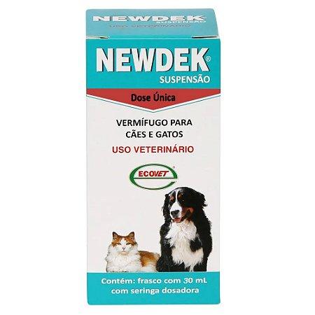Vermífugo Newdek Suspensão 30ml - Ecovet
