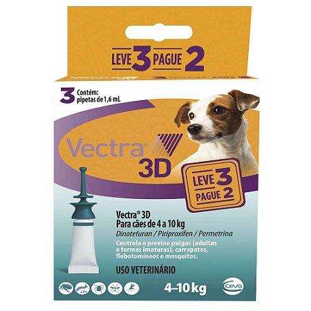 Antipulgas Vectra 3D Cães 4 A 10kg Pague 2 Leve 3 - Ceva