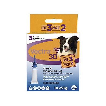 Antipulgas Vectra 3D Cães 10 A 25kg Pague 2 Leve 3 - Ceva