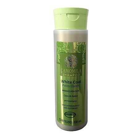 Shampoo Branqueador White Coat Camomila Pelos Claros 300ml - Ecovet