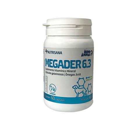 Suplemento Vitamínico Nutrisana Megader 6.3 60 Cápsulas - Mundo Animal