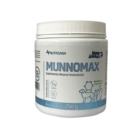 Suplemento Vitamínico Nutrisana Munnomax 250g - Mundo Animal
