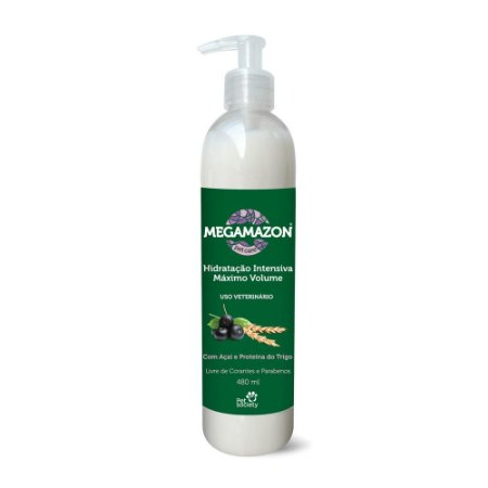 Megamazon Hidratação Intensiva Máximo Volume 480ml - Pet Socienty