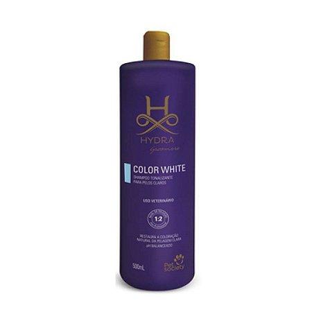 Shampoo Hydra Color White Tonalizante 500ml - Pet Society