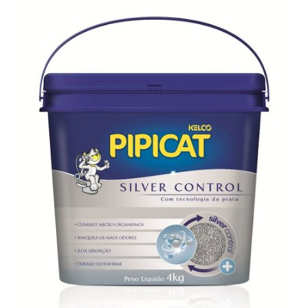 Areia Higiênica Pipicat Silver Control 4kg - Kelco