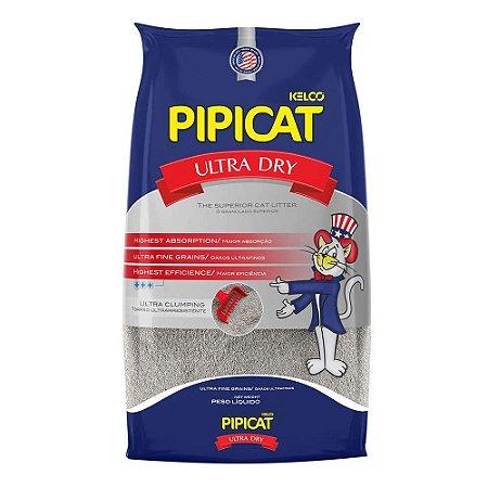 Areia Higiênica Pipicat Ultra Dry 9kg - Kelco