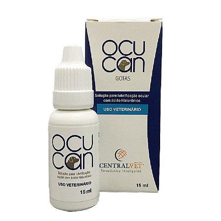 Solução Lubrificante Colírio Ocucan Gotas 15ml - CentralVet