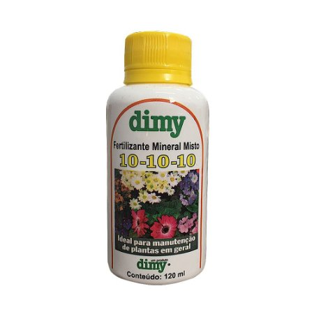 Fertilizante Mineral Misto 10 - 10 - 10 120ml - Dimy