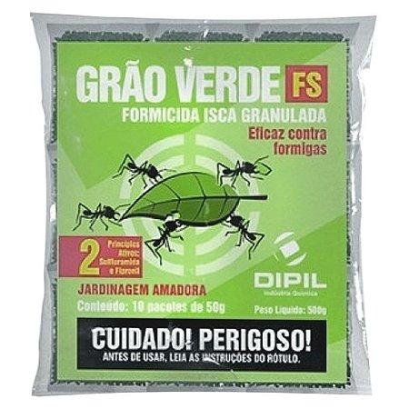 Isca Para Matar Formiga Cortadeira Grão Verde FS 500g - Dipil