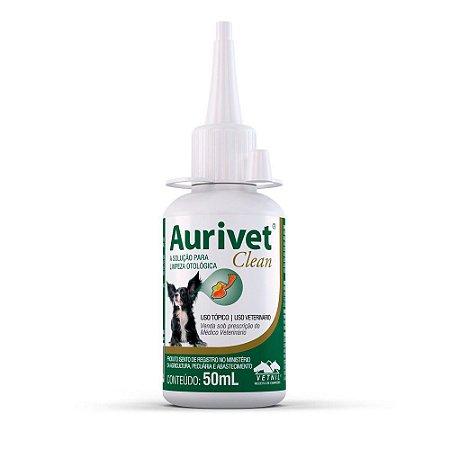 Solução Limpeza Otológica Aurivet Clean 50ml - Vetnil