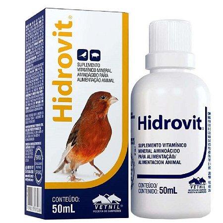 Suplemento Vitamínico Para Aves Hidrovit 50ml - Vetnil