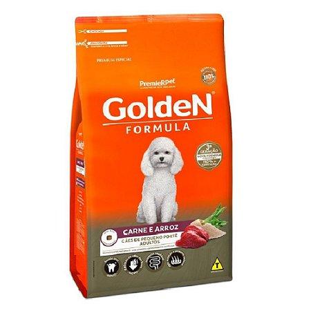 Ração Premium Especial Golden Fórmula Cães Adultos Raças Pequenas Sabor Carne e Arroz Mini Bits 3kg - PremierPet