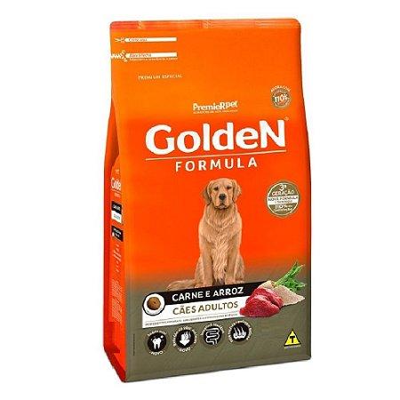 Ração Premium Especial Golden Fórmula Cães Adultos Raças Médias e Grandes Sabor Carne e Arroz 3kg - PremierPet