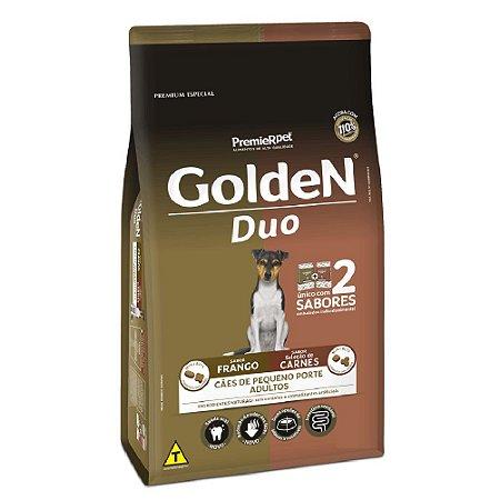 Ração Premium Especial Golden Fórmula Duo Cães Adultos Sabor Frango e Seleção de Carnes Raças Pequenas 3kg - PremierPet