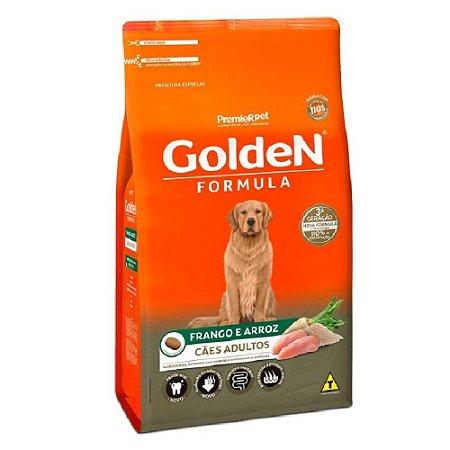 Ração Premium Especial Golden Fórmula Cães Adultos Raças Médias e Grandes Sabor Frango e Arroz 20kg - PremierPet