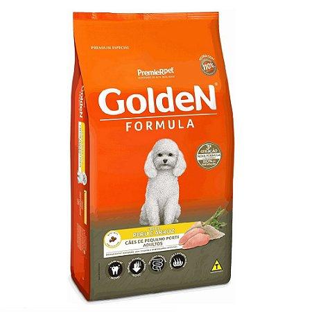 Ração Premium Especial Golden Fórmula Cães Adultos Raças Pequenas Sabor Peru e Arroz Mini Bits 10,1kg - PremierPet