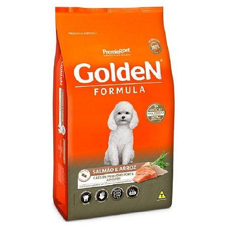 Ração Premium Especial Golden Fórmula Cães Adultos Raças Pequenas Sabor Salmão e Arroz mini Bits 10,1kg - PremierPet