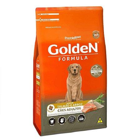 Ração Premium Especial Golden Fórmula Cães Adultos Raças Médias e Grandes Sabor Salmão e Arroz 15kg - PremierPet
