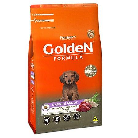 Ração Premium Especial Golden Fórmula Cães Filhotes Raças Pequenas Sabor Carne e Arroz Mini Bits 3kg - PremierPet