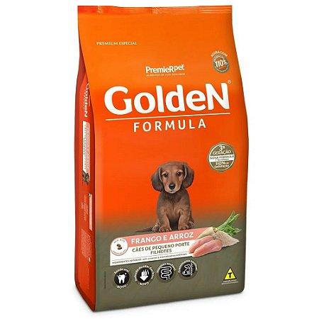 Ração Premium Especial Golden Fórmula Cães Filhotes Raças Pequenas Sabor Frango e Arroz 3kg - PremierPet