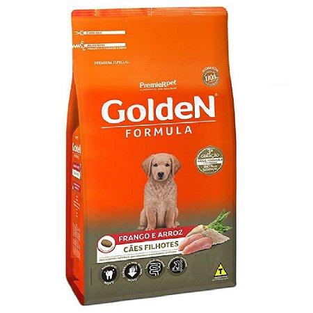 Ração Premium Especial Golden Fórmula Cães Filhotes Raças Médias e Grandes Sabor Frango e Arroz 15kg - PremierPet