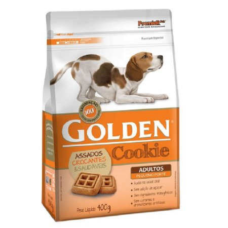 Petiscos Biscoito Golden Cookie Assados Cães Adultos Raças Pequenas 400g - Sem Trangênicos - PremierPet