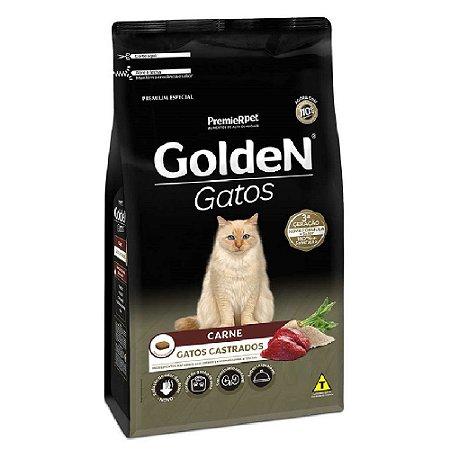 Ração Premium Especial Golden Gatos Castrados A partir de 6 Meses Sabor Carne 3kg - PremierPet