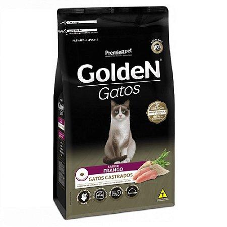Ração Premium Especial Golden Gatos Castrados A partir de 6 Meses Sabor Frango 10,1kg - PremierPet