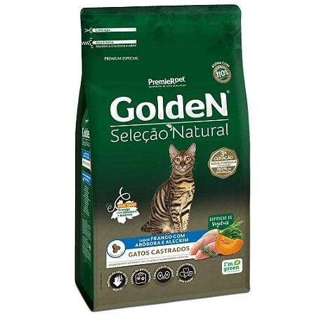 Ração Premium Especial Golden Gatos Seleção Natural Castrados A partir de 6 meses Sabor Frango Com Abóbora e Alecrim 10,1kg - PremierPet